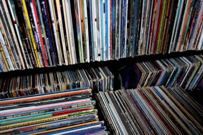 Store your records in an upright, vertical position